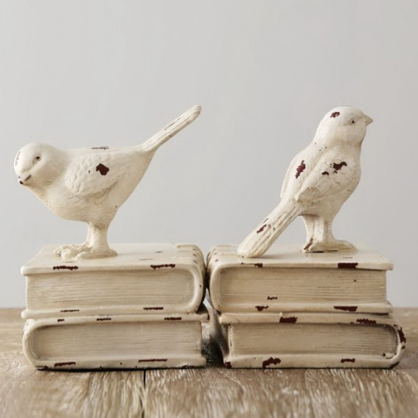 American Rustic Bird Resin Bookend
