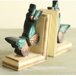 Continental Retro Butterfly Resin Bookend