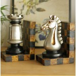 Continental Antiqued Chess Resin Bookend
