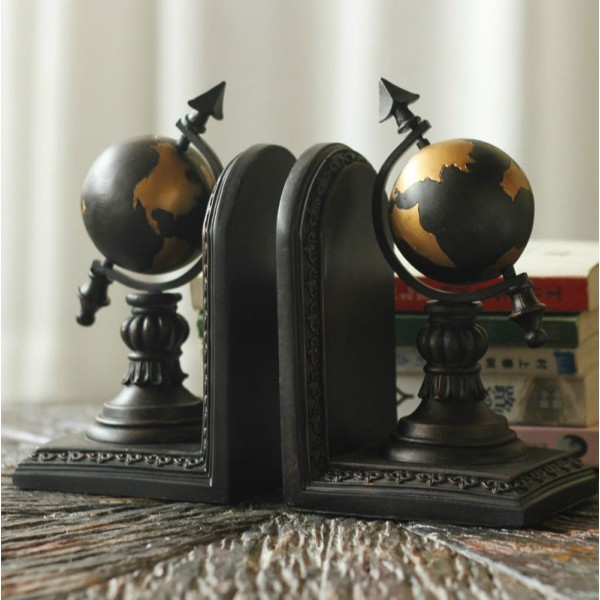 Continental Terrestrial Globe  Resin Bookend