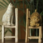 Country Style Cats Resin Bookend
