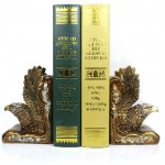 Imposing Gold and Silver Eagles Bookend