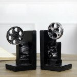 Retro Photography Resin Bookend