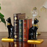 Egyptian Bastet Resin Bookend
