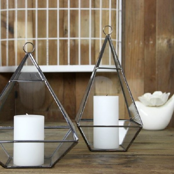 Modern Geometric Glass Candle Holder