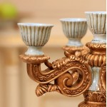 French Luxurious Retro Resin Candle Holder