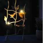 Continental Warm Nest Iron Candle Holder