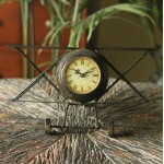 Continental Antiqued Airplane Iron Clock