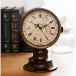 Classic Double-sided World Map Iron Clock