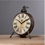 Antiqued Iron Clock