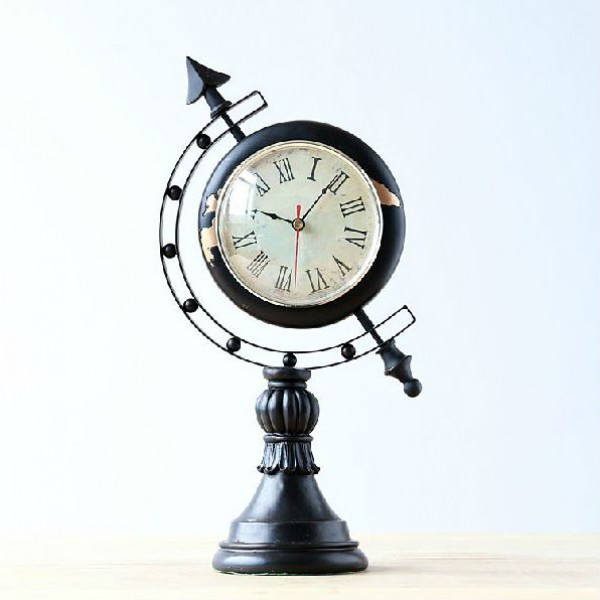 Glamorous Globe Shape Table Clock