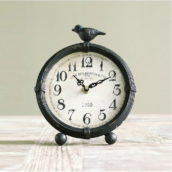 Classic Antiqued Iron Clock