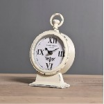 Ivory White Carved Table Clock