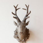 American Country Lucky Deer Head Resin Wall Hook