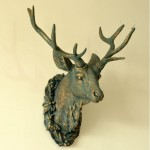 Resin Faux Deer Head Wall Ornament