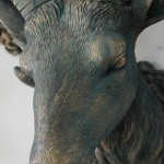 Resin Faux Goat Head Wall Ornament