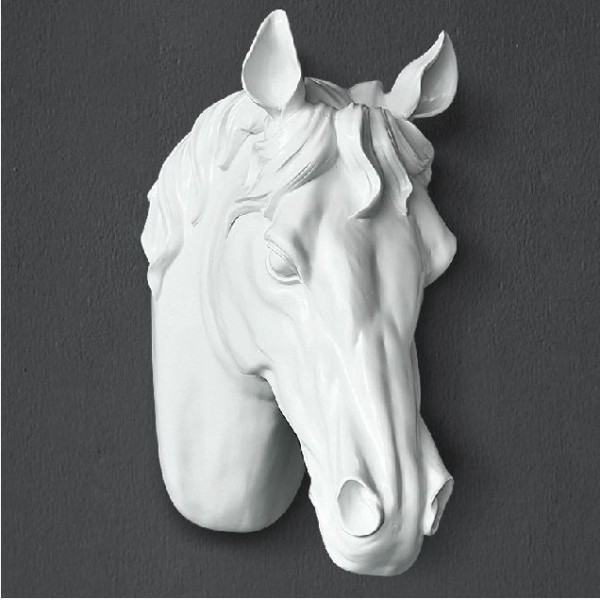Resin Faux Horse Head Wall Ornament