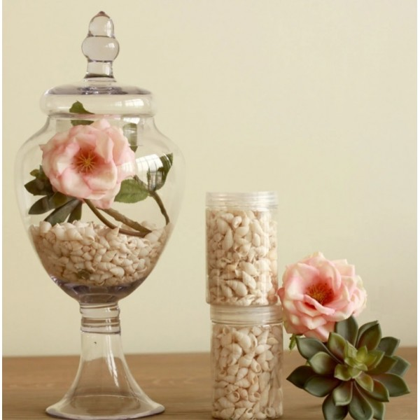 American Transparent Glass Jar with Rose