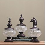 American Chess Sealed Glass Jar Set