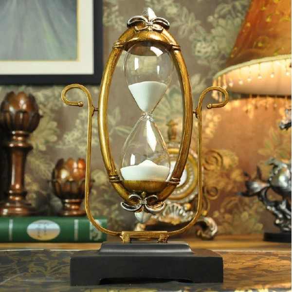 Country Rotatable Resin Hourglass
