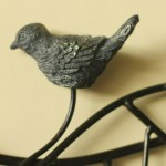 Continental Bird on Vines Iron Hook