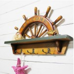 Mediterranean Antiqued Rudder Wooden Hook