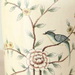 Rococo-style Flower and Bird Ceramic Jar