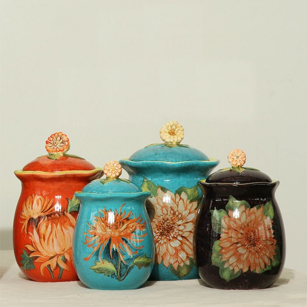 Countryside Daisy Ceramic Jar Set