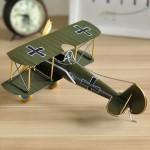 German Baron Bi-Plane Airplane Iron Miniature