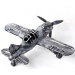 Metal Military Tri-Motor Aircraft Miniature