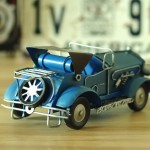 German Stylish Vintage Steam Car Iron Miniature