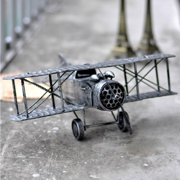 US Classic Metallic Military Plane Model