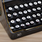 Sophisticated Black Vintage Typewriter Iron Miniature