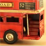 London Double Decker Bus Iron Miniature