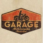 American Garage Antiqued Wooden Painting