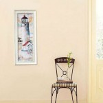 Mediterranean-style Lighthouse Printed Painting