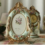 Retro Garden Green Resin Photo Frame - for 6 inch photo