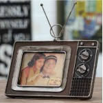 Retro Television Metallic Photo Frame