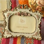 Pastoral Rose Resin Photo Frame