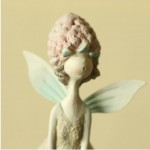 Countryside-style Berry Fairy Resin Sculpture