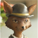Lady Vixen Fox Resin Ornament