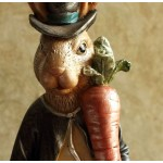 Mr. Hare Rabbit Gentleman Ceramic Ornament