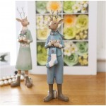 Elk Couple Resin Ornament Set