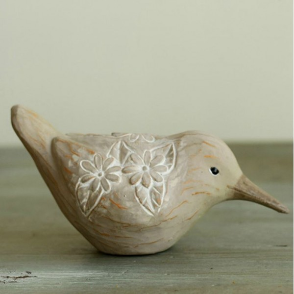 American Garden Carved Seabird Resin Ornament