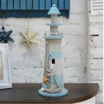 American Antiqued Lighthouse Wooden Ornament
