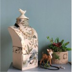 Floral and Bird Pattern Humanoid Model Jewelry Holder
