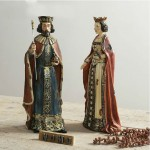 Denmark King and Queen Resin Ornament Set