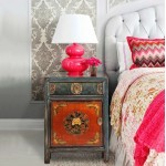 Chinese Hand-Colored Bedside Cabinet