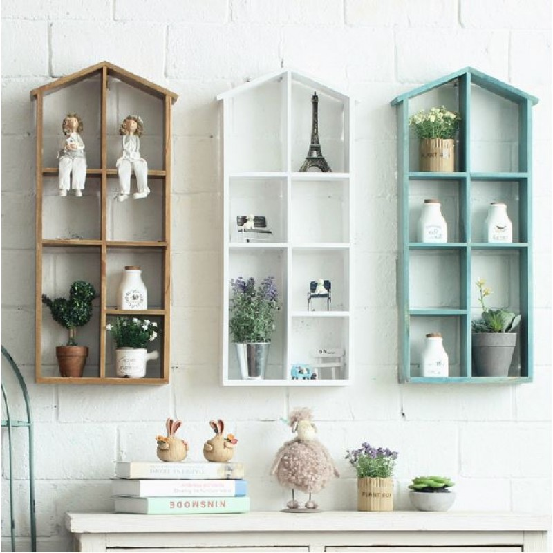 House Shaped Wooden Shelf