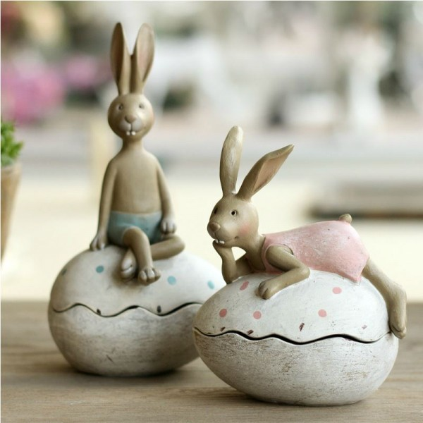 Cartoon Eggs Resin Decoration